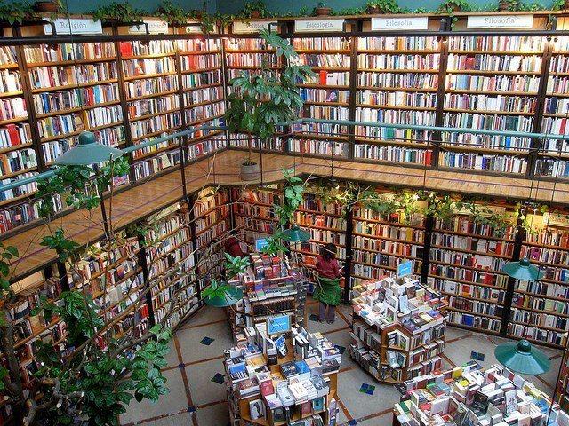 書店內綠意盎然,能感受到墨西哥城熱情的氛圍。圖/擷自flickr(女子學提供)