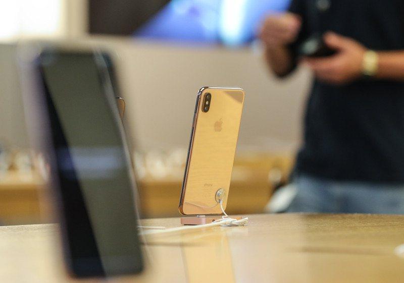 iPhone Xs Max。 歐新社資料照