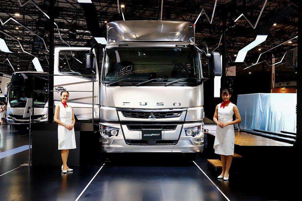 第46屆日本東京車展Fuso發表Level 2自動駕駛輔助重卡與小型氫燃料電動概...