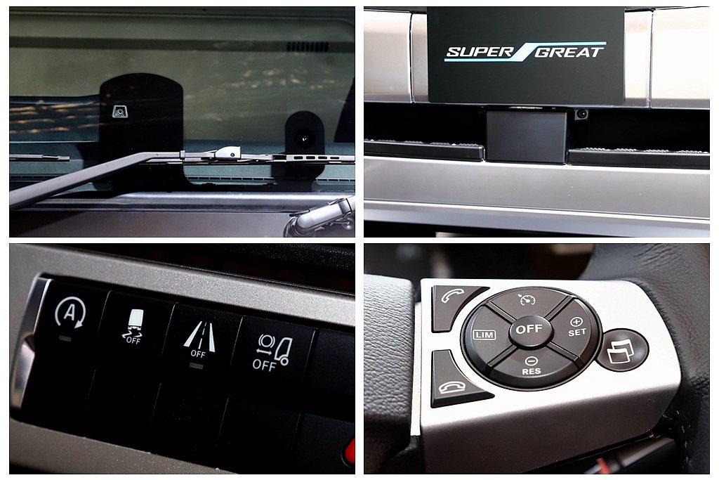 Fuso領先其他日系重車品牌將車道維持、主動煞車輔助(包含行人與單車)、交通辨識...