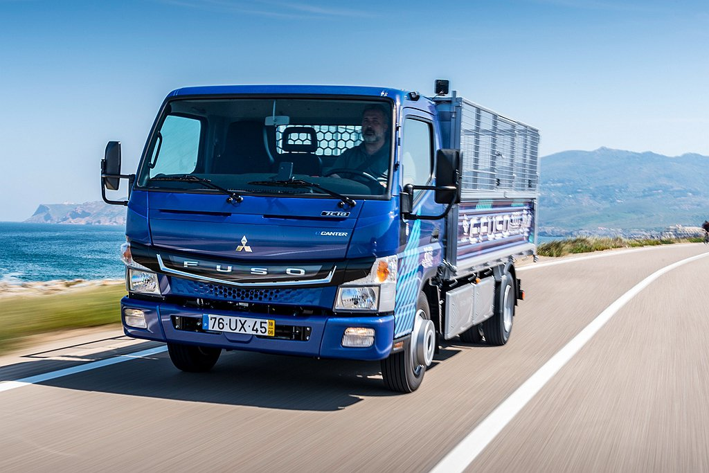 Fuso自2017年開始就陸續在歐洲、美國、日本等地提供小型電動貨車eCante...