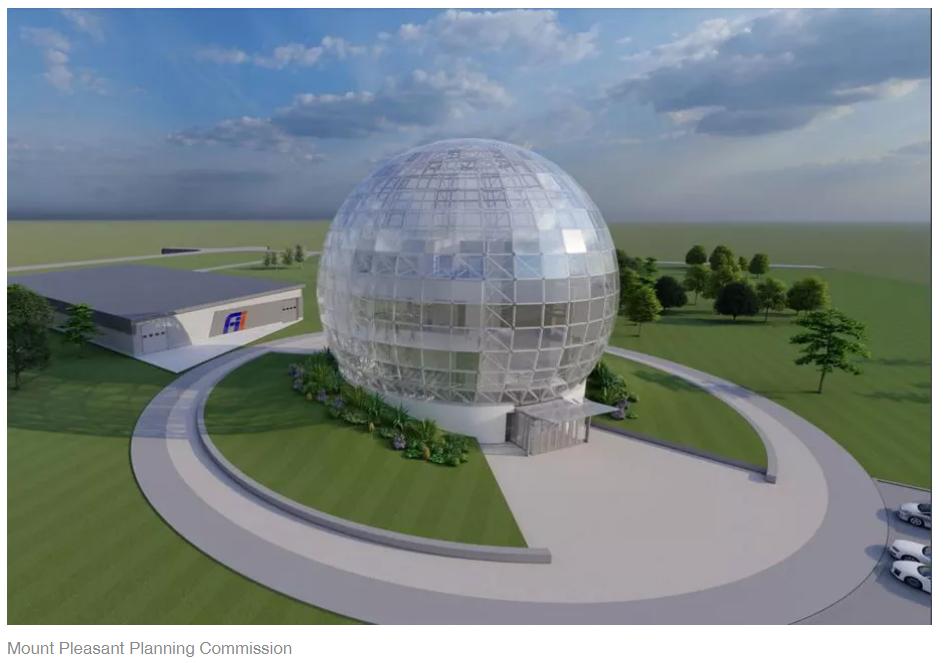 鴻海擬在威斯康辛州興建「網路營運中心」。圖/擷自Mount Pleasant