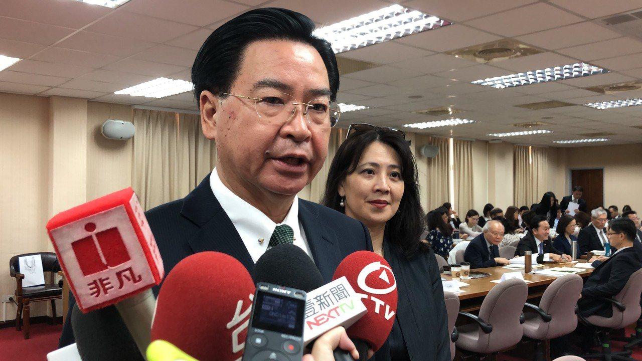 外交部長吳釗燮。聯合報記者張文馨/攝影