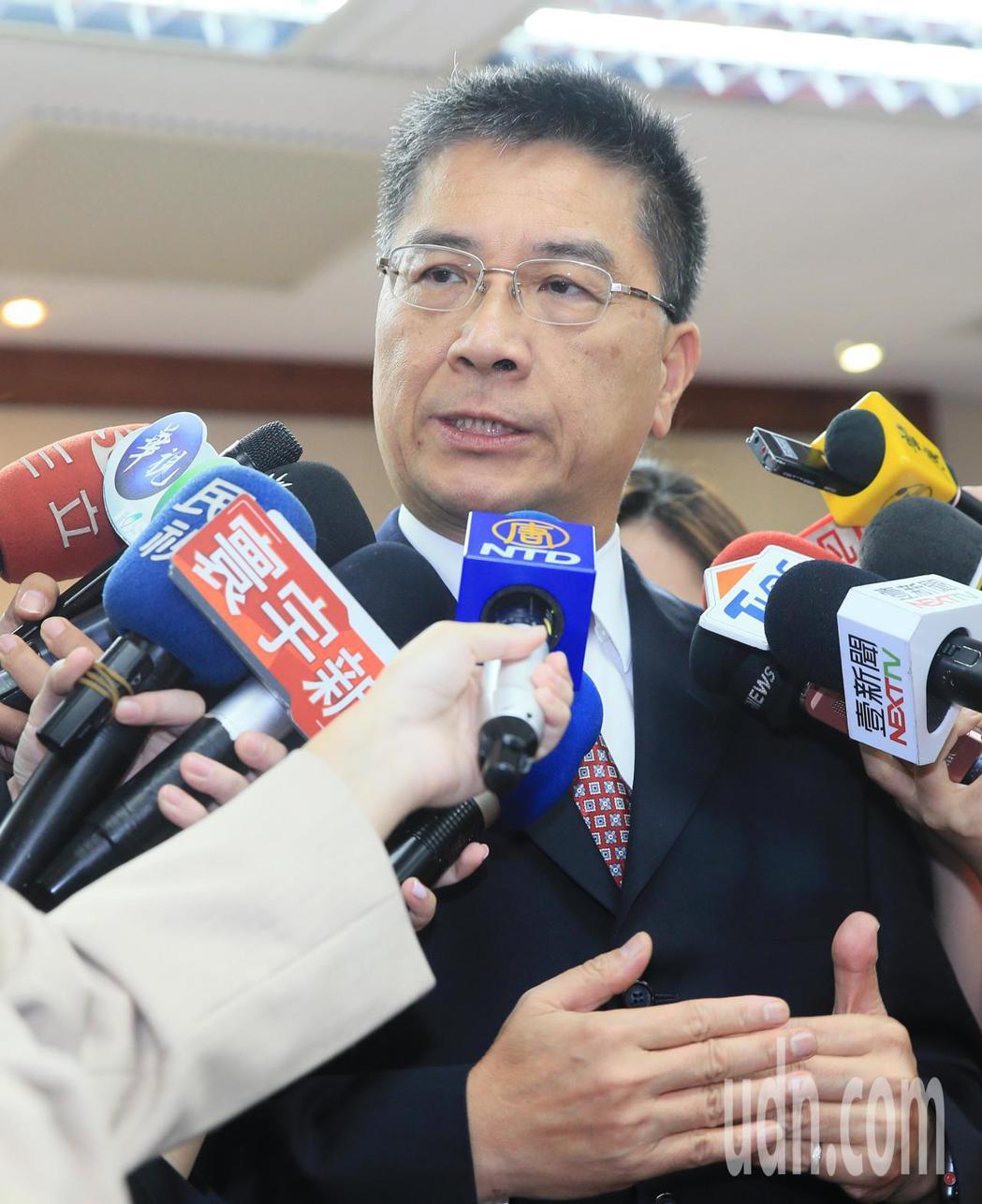 內政部長徐國勇受訪。記者潘俊宏/攝影