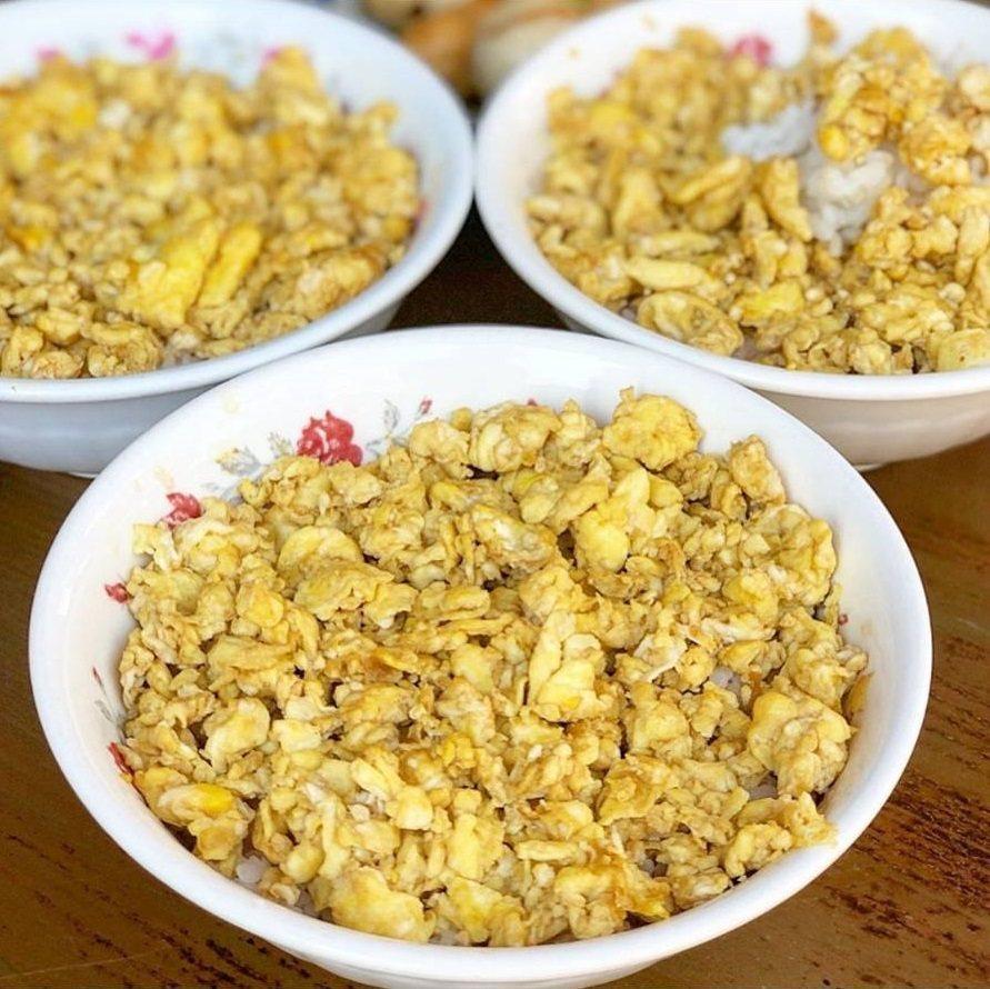 「老街碗粿」的蛋飯吸引許多IG美食部落客品嘗分享。圖/FB/Blog:舞食旅...