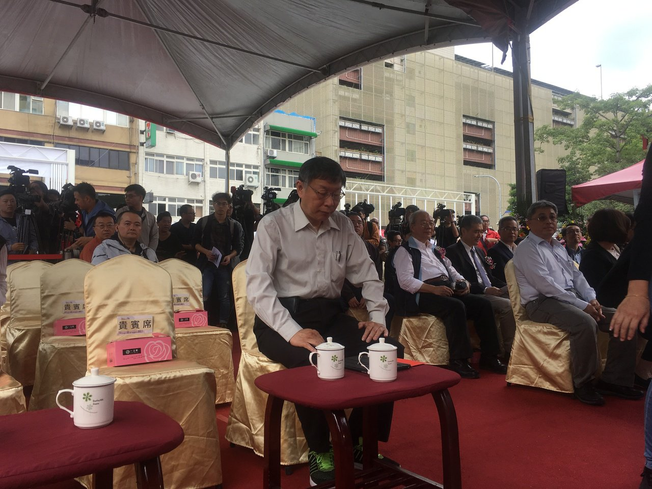 台北市長柯文哲今天上午出席「福星社會住宅新建工程開工典禮」。記者張世杰/攝影