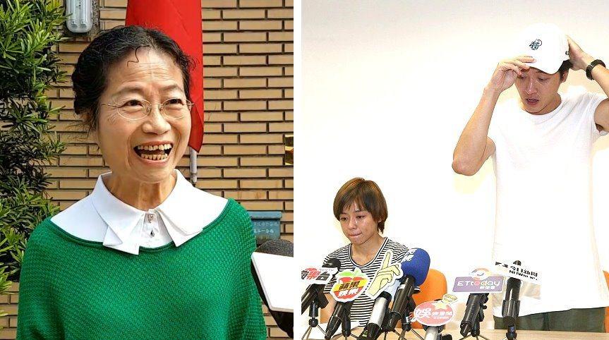 樂團「五月天」貝斯手瑪莎的母親李紫涵(左圖)為加重誹謗案到高院出庭,她被問到對日...