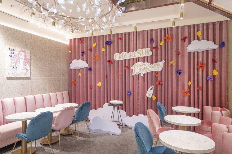 Café del SOL一周年與日本新銳藝術家聯名。圖/Café del SOL...
