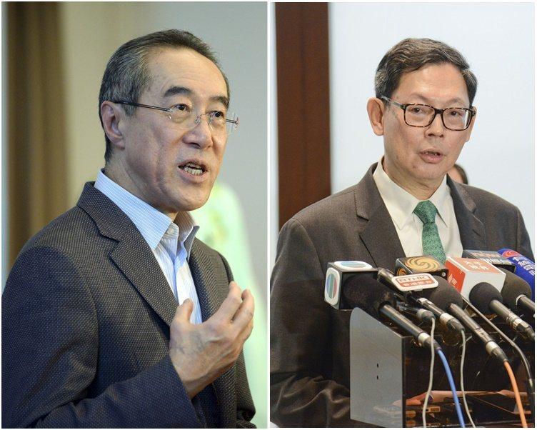 唐英年(左)及陳德霖(右)被傳出接替特首。圖/取自星島日報