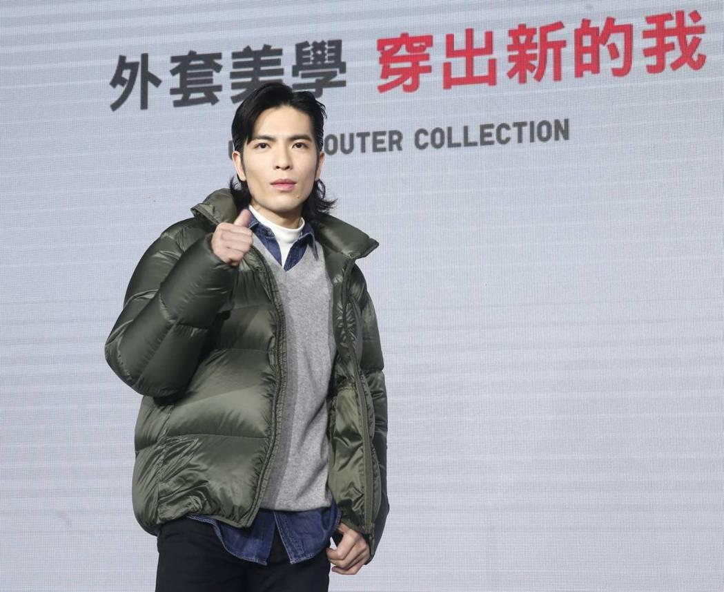 老蕭擔任日系服飾品牌代言人,分享自己的時尚美學。記者曾原信/攝影