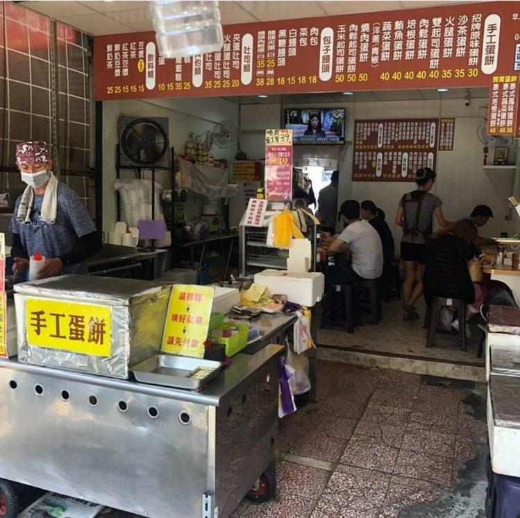 「傳統長北特製蛋餅專賣店」店面低調人氣高。 圖/FB/Blog: 舞食旅台灣...