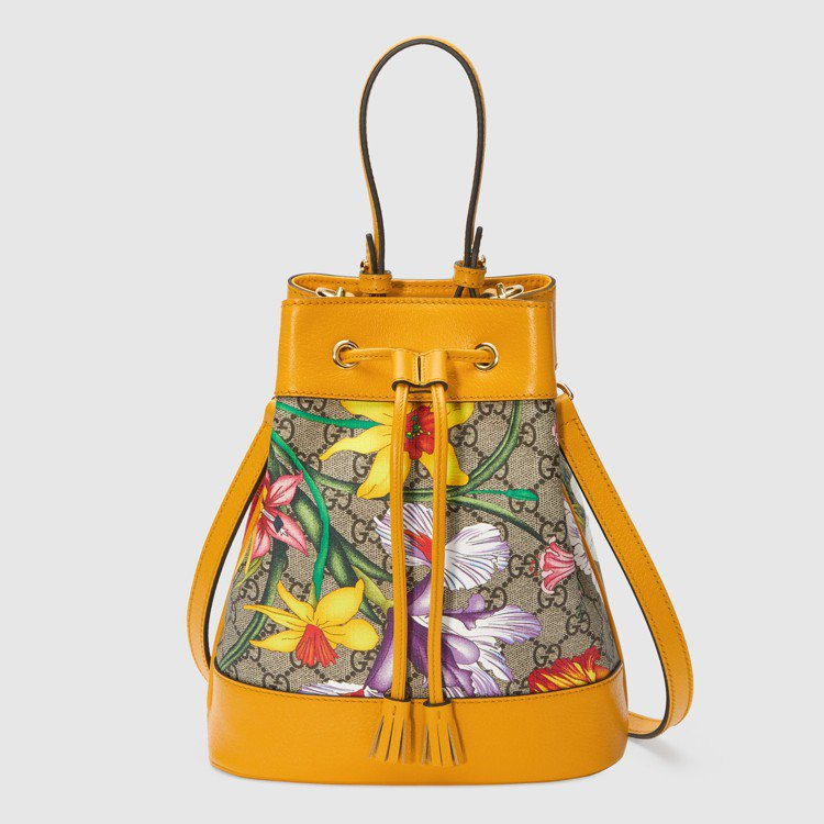 Ophidia系列Flora經典花卉圖騰小號水桶包,61,200元。圖/Gucc...