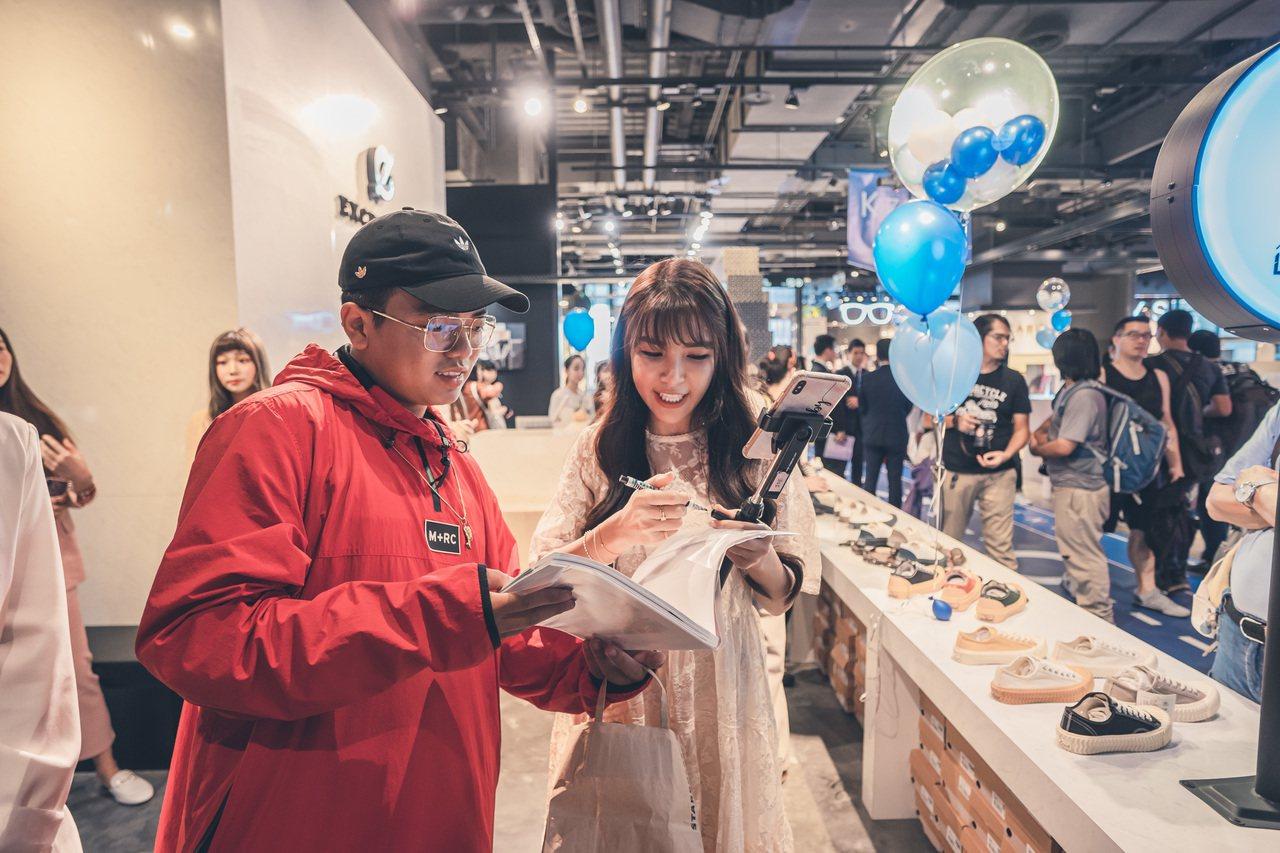 藝人Lala蘇心甯也出席K-ZONE開幕活動。圖/品牌提供