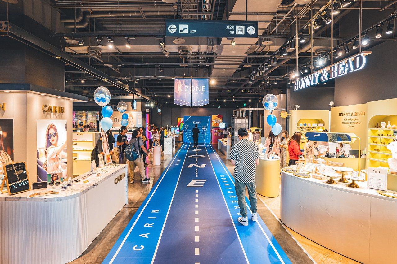 韓國配件及潮牌攜手前進百貨設立K-ZONE特區。圖/品牌提供
