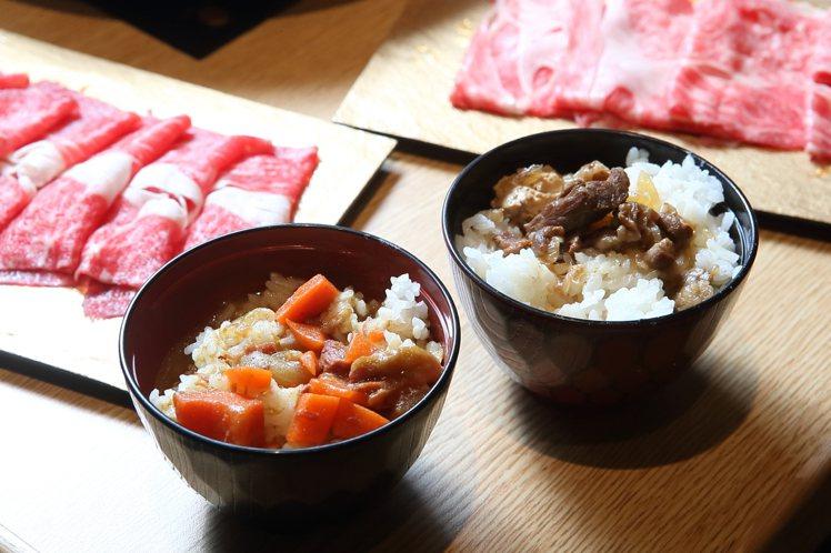 用餐民眾可以無限品嚐咖哩飯、壽喜燒飯等主食(依季節調整內容)。記者陳睿中/攝影