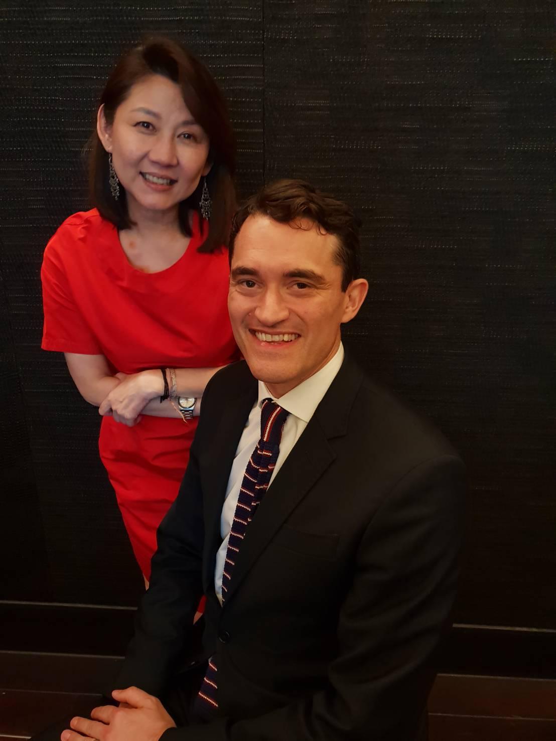 佳士得亞太區總裁龐智鋒(右)與佳士得亞太區副主席翁曉惠。記者陳宛茜/攝影