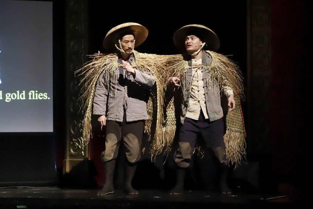 陳竹昇(左)、郭耀仁在「月夜情愁」中飾演「三聖士之二」。圖/民視提供