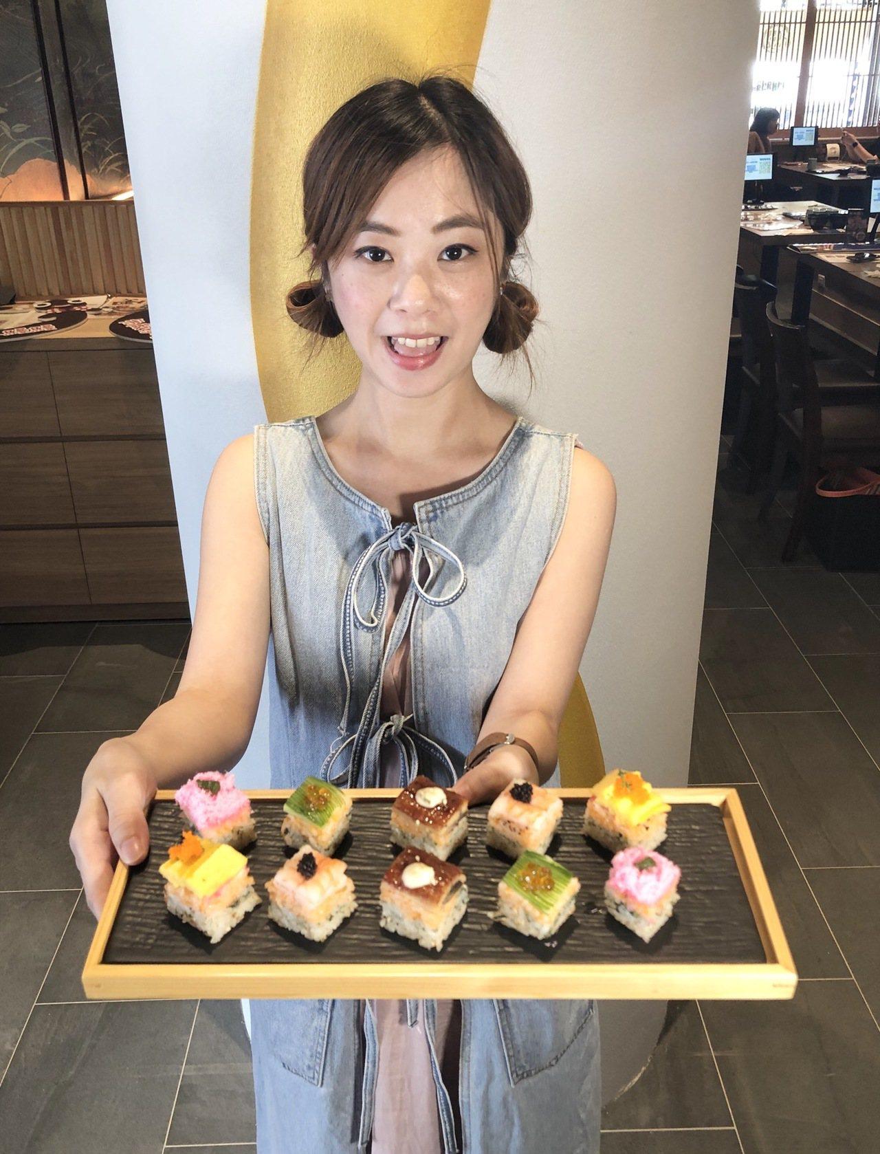 鰻魚壽司蛋糕是時下重視覺感的網美系菜色。記者宋健生/攝影