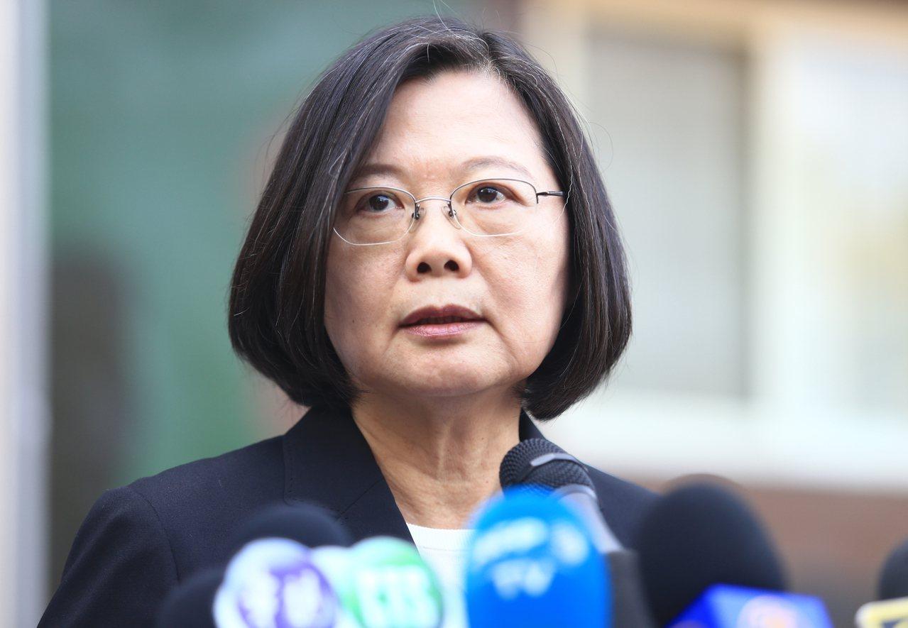 蔡總統談陳同佳案表示,「只有逮捕沒有自首問題」。記者陳正興/攝影