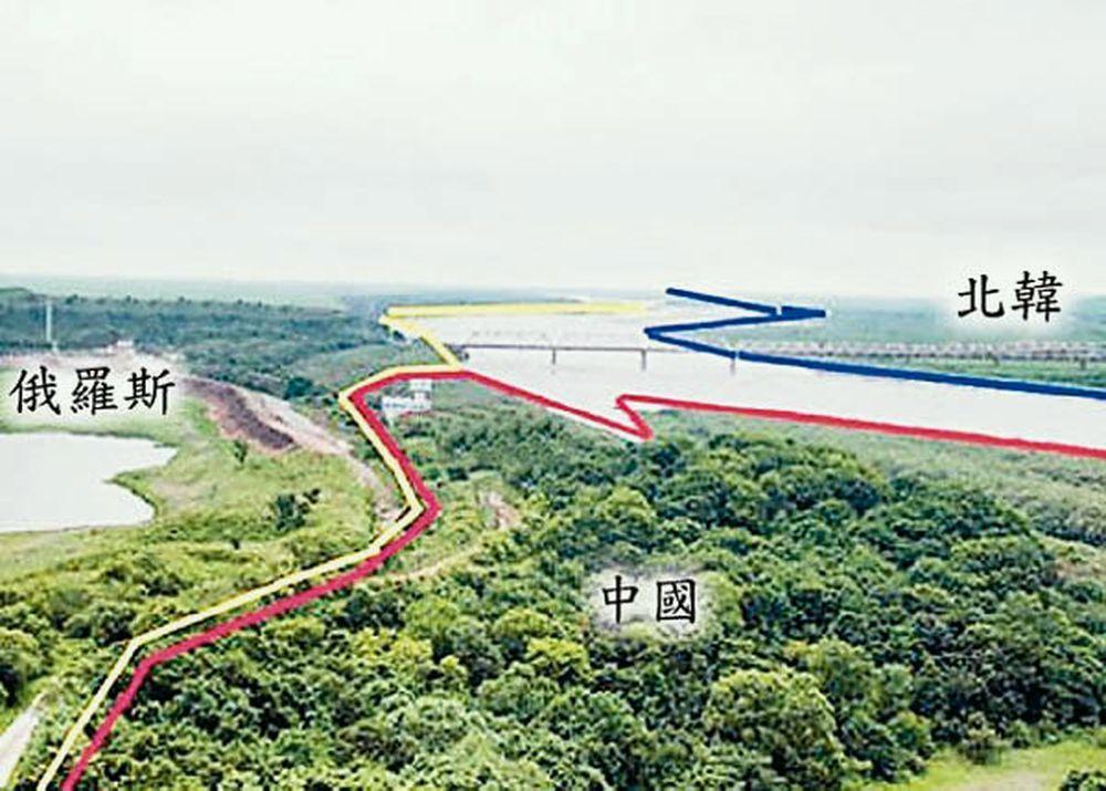 在防川村,你能一眼看到陸、俄、北韓三國領土。圖/東方網