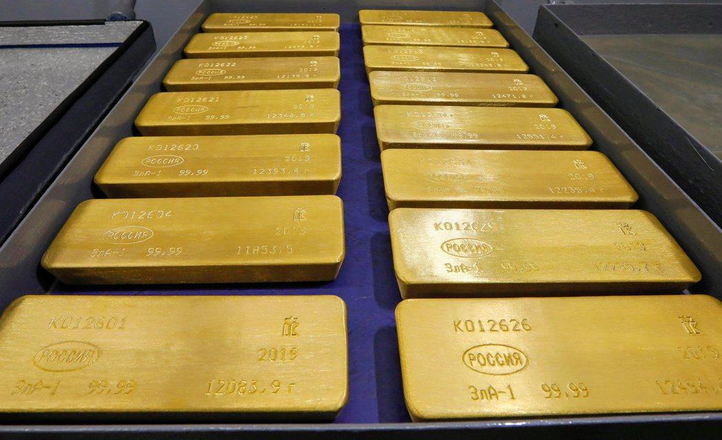 央行目前持有黃金市值約新台幣6209億元。(路透)