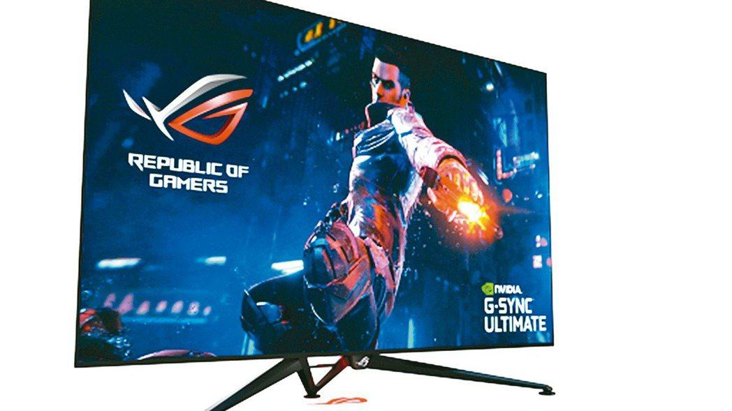 華碩ROG大型電競螢幕Swift PG65UQ,採用超大65吋4K UHD高解析...