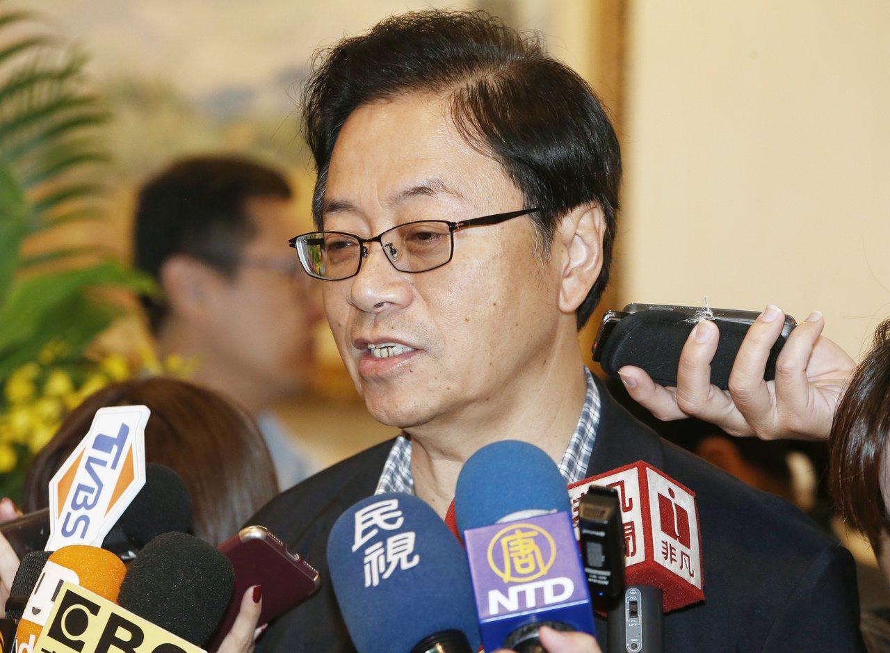 國民黨總統參選人韓國瑜的副手張善政。聯合報系資料照/記者曾原信攝影