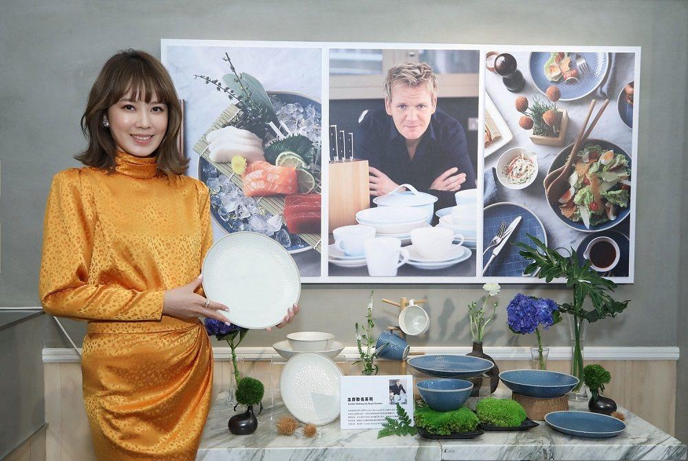 時尚媽咪Melody出席Royal Doulton品牌上市記者會。花仙子/提供
