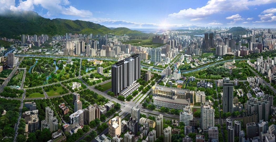 重劃區在發展初期,首推案大多是房價的起漲點。圖片提供/興富發建設