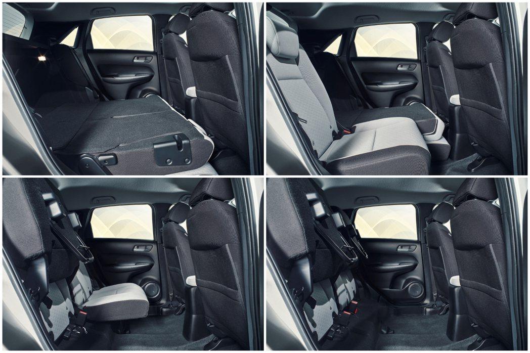 第四代Honda FIT後座具有收摺功能,可提升載物量於使用上的靈活性。 摘自H...