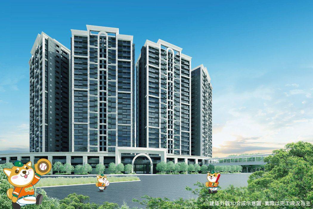 捷運A7站當紅炸子雞「竹城甲子園」,將打造該區地王及地標。 圖/A7地王竹城甲子...