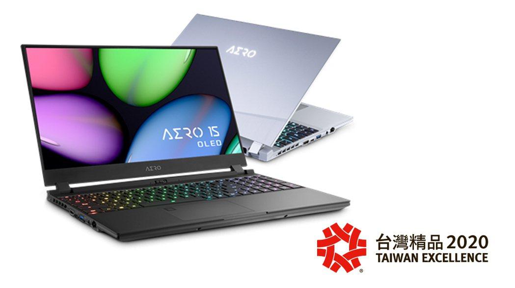 國外獲獎不斷的技嘉AERO系列獲今年台灣精品獎。 盈嘉/提供