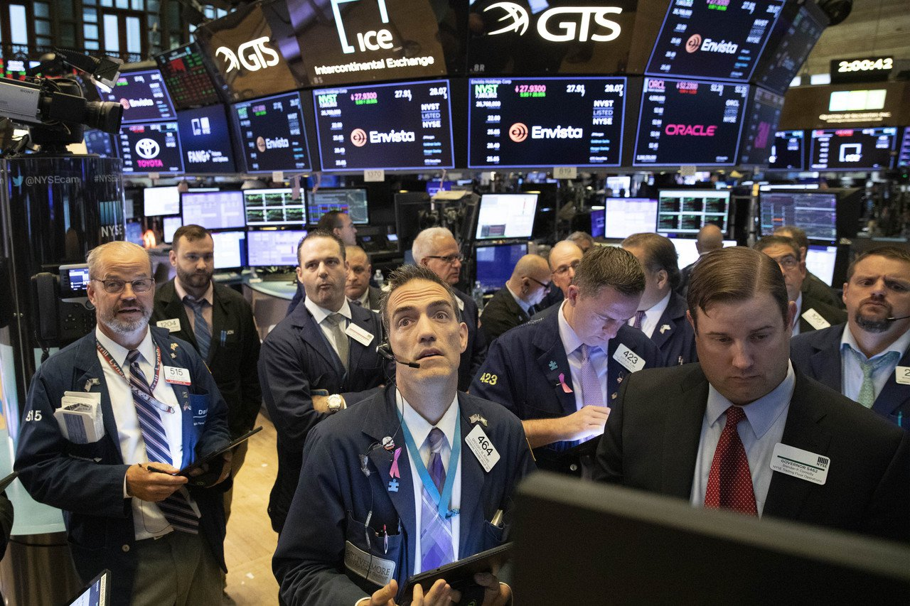 美股周三上漲,但晶片股下滑。 美聯社