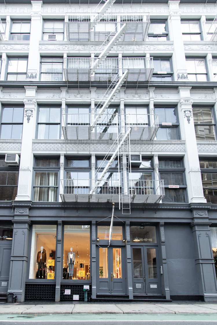 sandro首間美國旗艦店坐落在蘇活區Prince Street。圖/sandr...