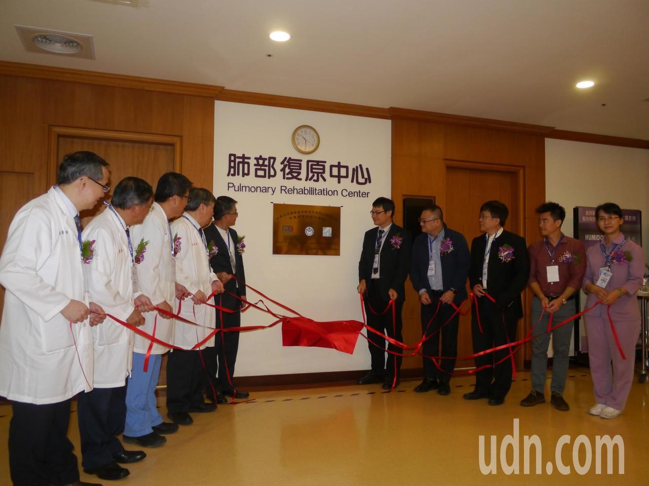 義大癌治療醫院成立「肺部復原中心」,打造智慧化臨床場域。記者徐白櫻/攝影