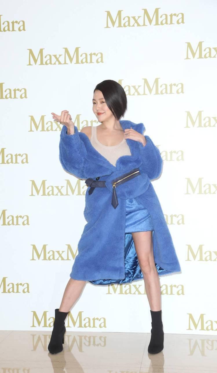 小S徐熙娣出席Max Mara快閃店活動,不改搞笑的詼諧風格。記者陳立凱/攝影