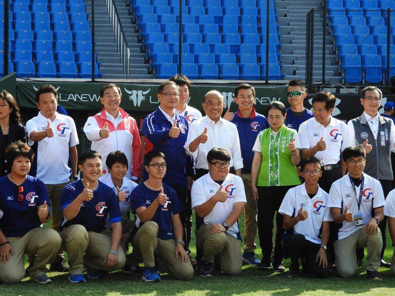 蘇貞昌今日下午出席「為東京奧運棒球代表隊加油」活動。記者高宇震/攝影