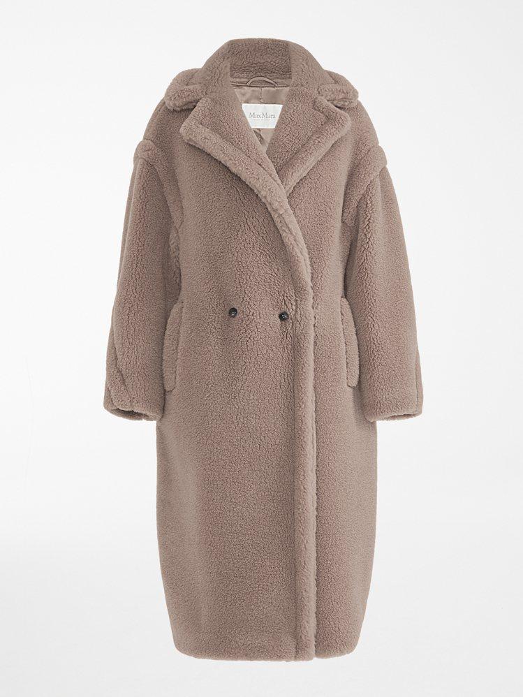 駝色泰迪熊大衣,售價15萬8,800元。圖/Max Mara提供