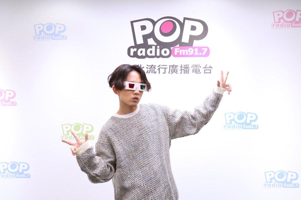 林宥嘉新歌「少女」唱出粉紅泡泡,自認比老婆Kiki還少女。圖/POP Radio