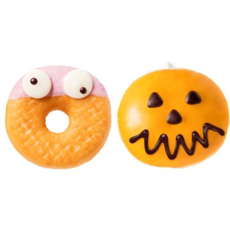 台北統一時代百貨Mister Donut即日起推出「期間限定」6款萬聖節甜甜圈。...