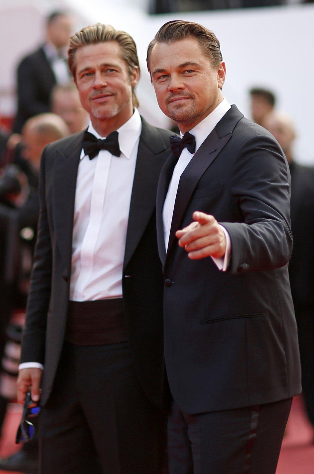 布萊德彼特與李奧納多狄卡皮歐已經決定好各自角逐奧斯卡配角、主角獎。圖/歐新社資料