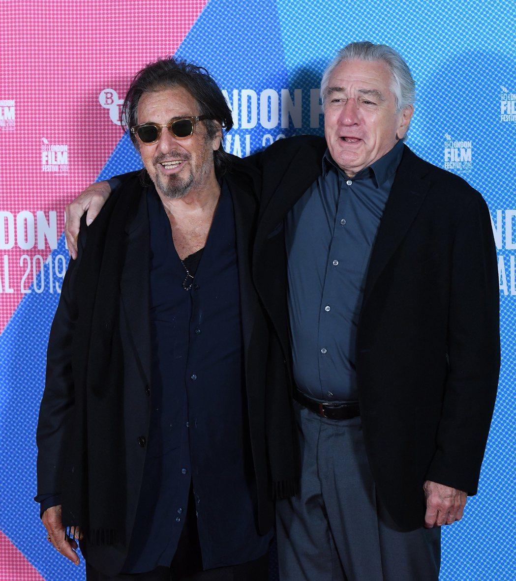 艾爾帕西諾與勞勃狄尼洛也協調好將分別角逐奧斯卡配角、主角獎。圖/歐新社資料照片