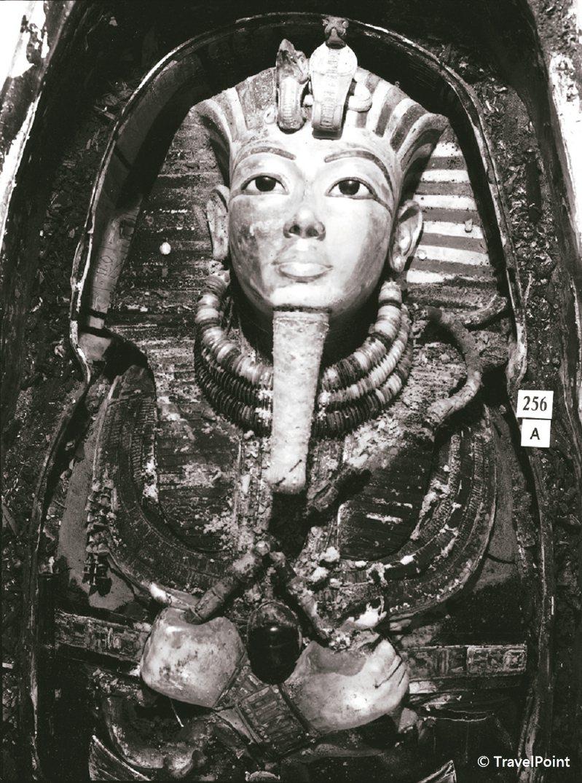 埃及法老圖坦卡門,從出土開棺到展出,都是全世界的鎂光燈焦點。 圖/聯合數位文創提供