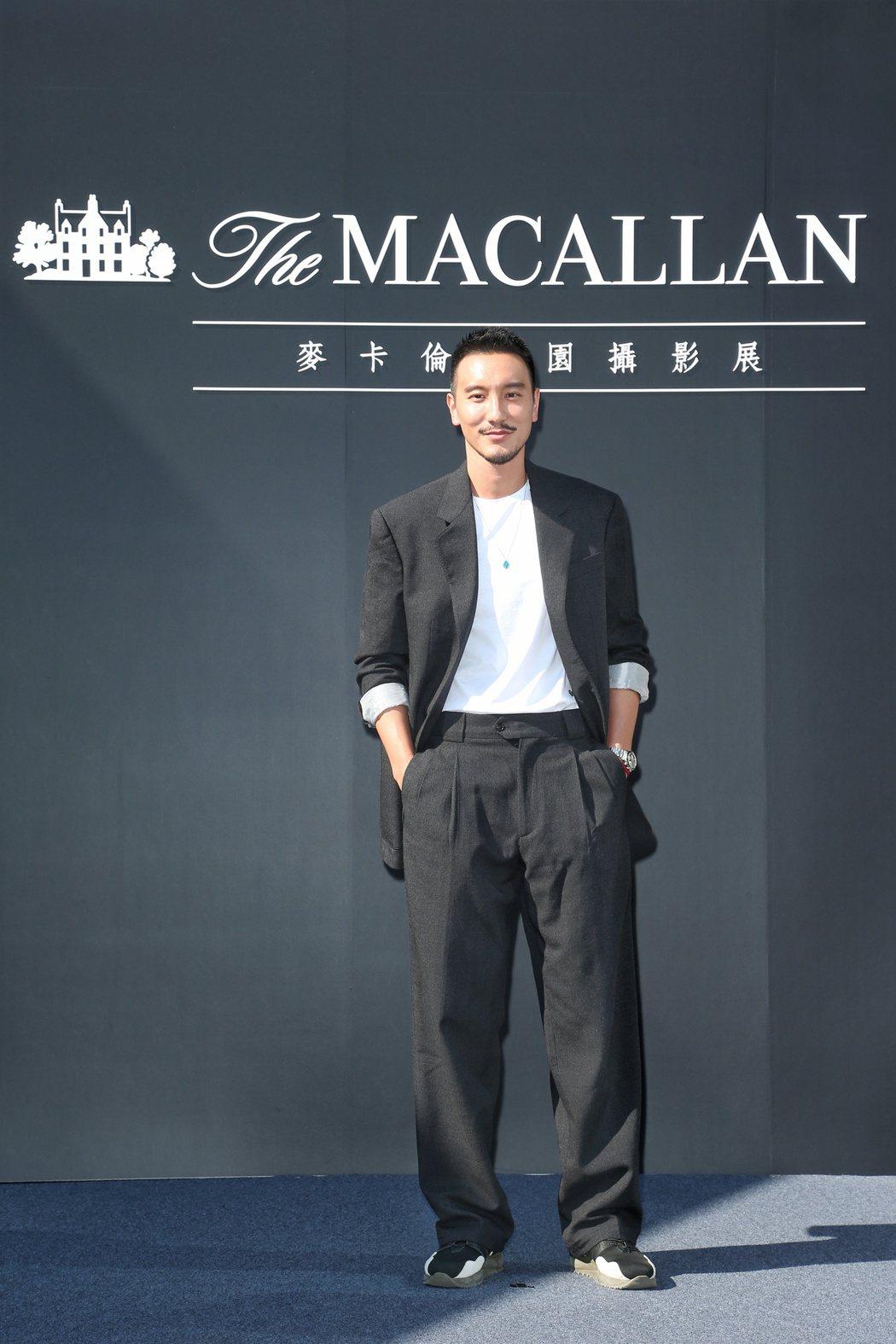 王陽明出席麥卡倫莊園攝影展。記者陳立凱/攝影