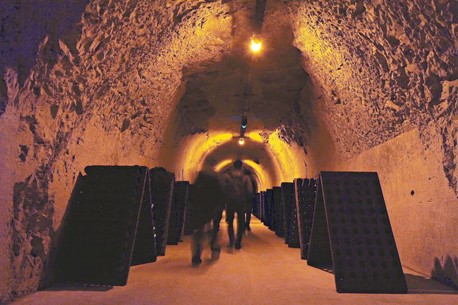 Maison Veuve Clicquot香檳地窖。 圖/何信緯