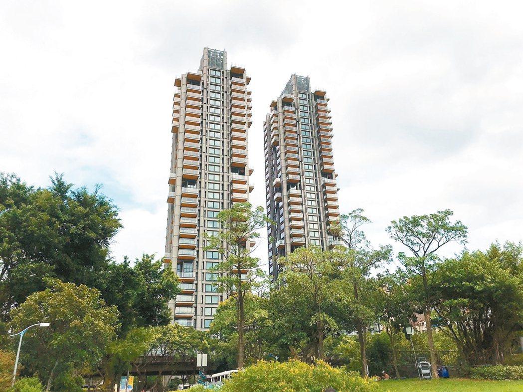 圖為台北市知名豪宅ONE PARK TAIPEI元利信義聯勤。 本報資料照片