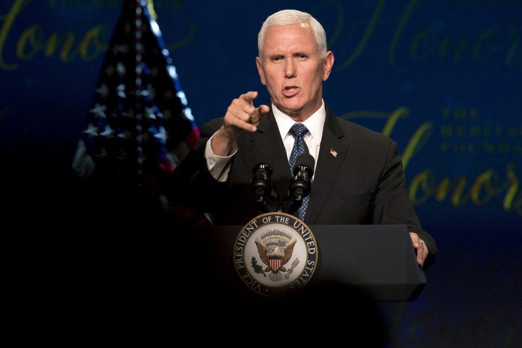 美國副總統彭斯發表演說重砲抨擊中國並力挺台港。美聯社