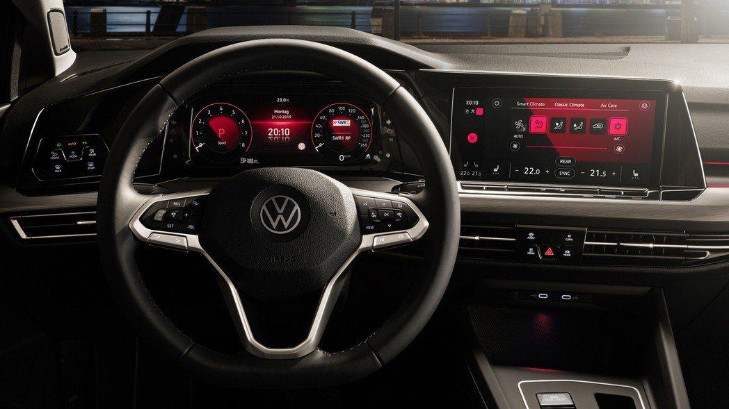 第八代Volkswagen Golf採用全數位儀表。 摘自Volkswagen