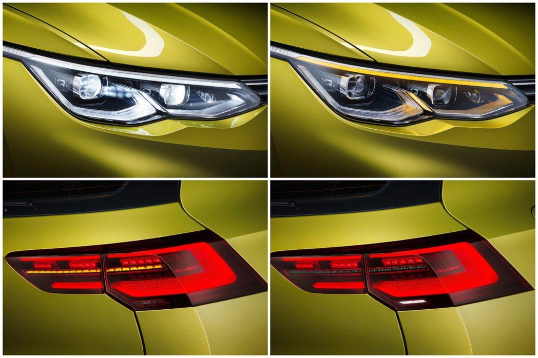 第八代Volkswagen Golf的IQ.Light燈組變化。 摘自Volks...