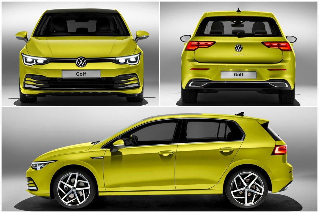 第八代Volkswagen Golf身形與前代相比變得較為低趴,車長也有所增加。...